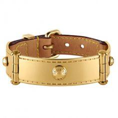 Louis Vuitton gold leather bracelet
