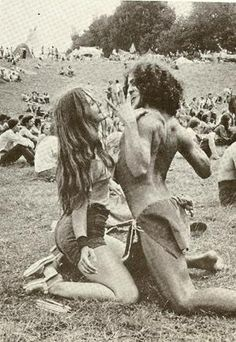 Dance, the best way to get endorphin levels peaking. Joan Bryant and Fantuzzi at Woodstock - 1969 Concetta