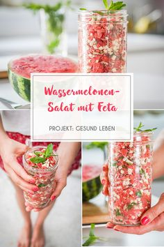 "Wassermelonen-Salat mit Gurken-""Spaghetti"" aus dem Spiralschneider – der perfekt… Watermelon salad with cucumber ""spaghetti"" from the spiral cutter – the perfect summer salad! Quick to prepare, light and fruity! Gourmet Recipes, Healthy Recipes, Eggplant Dishes, Feta Salat, Radish Recipes, Watermelon Salad, Walnut Salad, Queso Feta, Recipes"