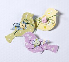 prettiest ever Paper Birds embellished with buttons, Hobbycraft