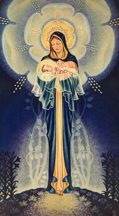 Mystical Roseillustrated by Sister Marie Pierre Semler 1901-1993