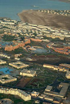 hurghada from the plane - Hurghada, Red Sea