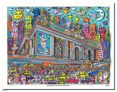 james rizzi a grand central station Keith Haring, Andy Warhol, Pop Art Boom, James Rizzi, Laurel Burch, Taj Mahal, Image Search, City Photo, Graffiti