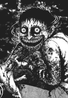 The David Cronenberg of manga. Junji Ito (born July is one of the top mangakas in the horror genre, his most popular works being Uzumaki, Tomie, … Arte Horror, Horror Art, Real Horror, Creepy Horror, Junji Ito, Dark Style, Manga Gore, Manga Anime, Anime Art