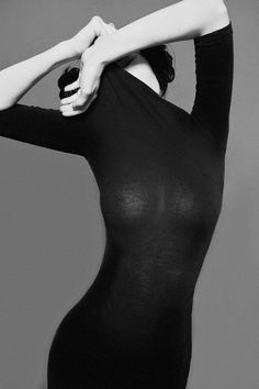 Luscious black top pose
