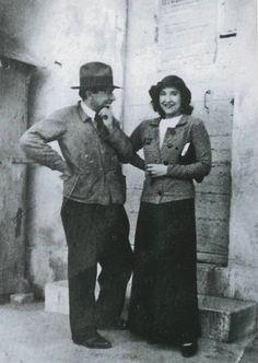Chaim Soutine with designer Madeleine Castaing