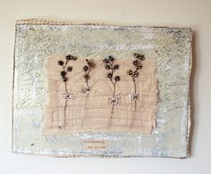 like the beads that form little flowers.....could be done on wire and put in book instead of sewn