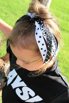 Soccer Pony Tail Holder - Cheer Bow - Soccer Hair Bow. $5.95, via Etsy.
