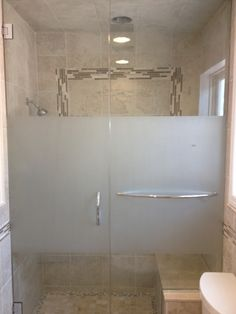 Image result for frosted shower door ideas