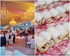 viva bella events | Kortnee Kate Photography | Goodwin Lighting | Cincinnati Ohio | tented wedding reception | Donna's Gourmet Cookies | cookie wedding favors | wedding chandeliers