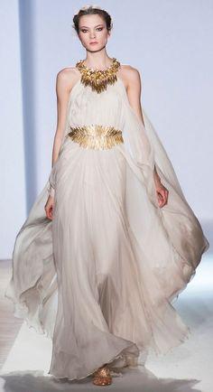 Zuhair Murad Spring '13 grecian goddess white