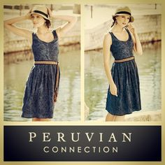 Peruvian Connection $229 vintage-washed linen blend printemps pinafore dress sz.6 RR Price: $140 www.resalerichesnyc.com