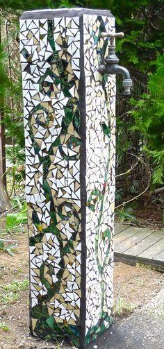 Beautiful pillar with spigot!