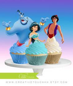 Jasmine Cupcake Toppers Princess Jasmine by CreativeTouchhh
