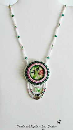 Green Ribbon Awareness Handmade Vintage Style by Beadwork4Sale