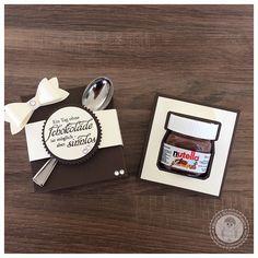 Stampin' Up! - Mini Nutella Verpackung - Bellas Stempelwelt - Mini Nutella, Espresso, Vanille Pur