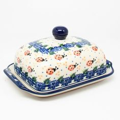 "3 1/3""H x 5""W x 6 3/4""L - Quality 1 Guaranteed from the renowned Ceramika Artystyczna Boleslawiec - Polish Pottery is Oven, Microwave, and Dishwasher Safe! - Hand Painted and Stamped by Highly Skilled"