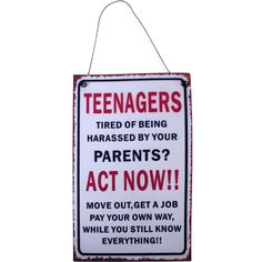 Teenager Metal Wall plaque - Seasons Unlimited