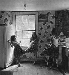 Memories - Three Girls in Kitchen by William Gedney, 1964. S)