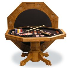 Have You Ever Wanted To Play Both Bumper Pool And Poker On The Same Table?  Well, What I Have Here Is Called The Signature Combination Game Table By  Fairview