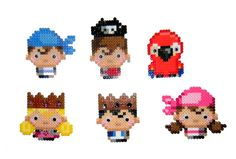 Pirates perler beads Magnets  by JadeDragonne on deviantart