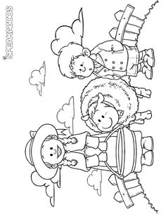 Hansel and gretel embroidery transfer sewing project for Baa baa black sheep coloring page