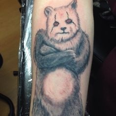 Bad ass Panda. #tattoo #tattoolife #art #blackandgrey #bear #panda #creativecanvastattoo #missouritattoo thanks for looking!