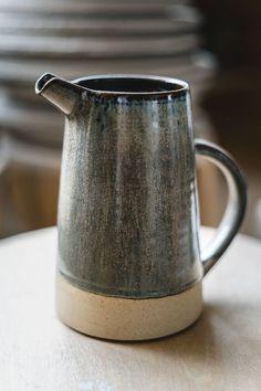 Ceramics by Catherine and Matt West - Jug in slate by Pottery West - . - Ceramics by Catherine and Matt West – Jug in slate by Pottery West – - Slab Pottery, Thrown Pottery, Pottery Mugs, Ceramic Pottery, Pottery Art, Ceramic Art, Pottery Wheel, Ceramic Painting, Keramik Design