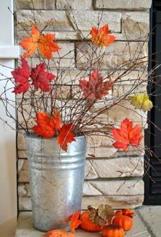 Garten Deko selber machen Herbstblätter