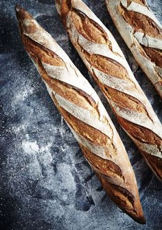 Recent Work: The Bread Factory (baguette artisinal) Photographer: Mowie Kay Rustic Bread, Bread Bun, Our Daily Bread, Bread And Pastries, Artisan Bread, How To Make Bread, Bread Baking, Food Styling, Food Inspiration