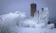 Lampposts are covered in ice in the Adriatic coastal town of Senj, Croatia, Tuesday, Feb. 7, 2012. (Darko Bandic, AP) Europe Weather, Frozen Waves, Unbelievable Pictures, Weather Snow, Adriatic Sea, Pics Art, Winter Scenes, Amazing Nature, Wonders Of The World