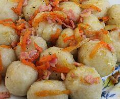 Moje pyszne, łatwe i sprawdzone przepisy :-) : Szare kluski z pyszną okrasą Shrimp, Meat, Pierogi, Food, Recipies, Essen, Meals, Yemek, Eten