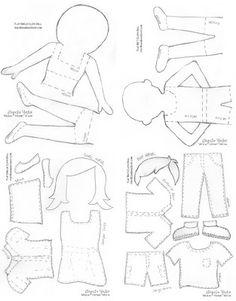 felt doll pattern