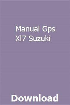 manual gps xl7 suzuki