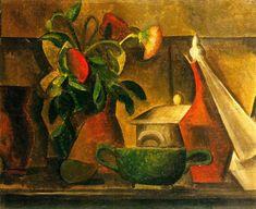 Nature morte au bouquet de fleurs 1908. Pablo Picasso (1881-1973)
