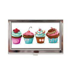 Cupcakes Business Card Case - feb 24