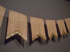 Burlap Pennant Banner For Wedding Or Party Decoration With Gold/Silver Glitter E. Burlap Pennant B Ramadan Decorations, Wedding Decorations, Glitter Decorations, Burlap Decorations, Glitter Backdrop, Wedding Ideas, Gold Banner, Hessian Bunting, Graduation Parties