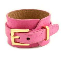 Poshlocket - Naomi Belt Cuff in Pink Poshlocket. $39.00