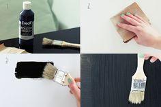 DIY Chalkboard Fridge: Kühlschrank mit Tafelfarbe bemalen | * Nicest Things - Food, Interior, DIY: DIY Chalkboard Fridge: Kühlschrank mit Ta...