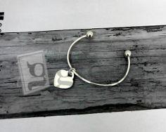 #bracciale a schiava modello tipo Tiffany con ciondolo a #cuore #argento 925  http://www.glesa.it/vetrine/linea_cuore_925