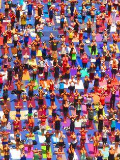Times Square Solstice Yoga