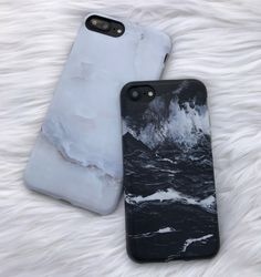 Ivory White + Black Marble Case for iPhone 7 & iPhone 7 Plus from Elemental Cases