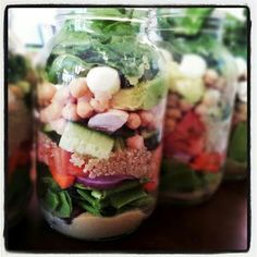 Salad in a jar by Love The Taste