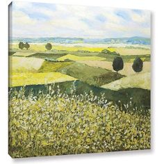 ArtWall Allan Friedlander Top Of The Hill Gallery-wrapped Canvas, Size: 24 x 24, White