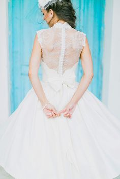 When a dress has a signature style it makes for the most amazing wedding day look. If you're seeking a combination of vintage glam and a girly bridal look Katerina's custom made wedding dress is the one to wow! all about it.  #bride #realwedding #weddingday #weddingdress #Greekwedding #weddinginGreece