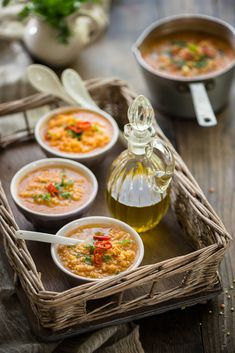 millet and red lentil soup