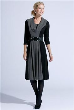 Angel drape neck cowl from rad patterns added to center panel love notions tidal dress.