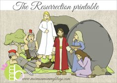 The Resurrection Printable Scripture Story | Mormon Mommy Printables