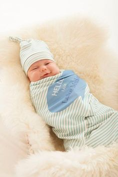 ORGANIC baby Personalized blanket ,Hello aqua stripe, Swaddle large, cotton knit, baby shower gift, newborn photo on Etsy, $54.75
