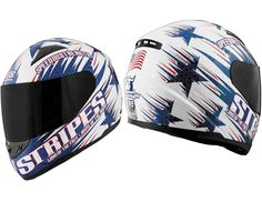 Speed and Strength - SS1100 Stars and Stripes Red/White/Blue Helmet